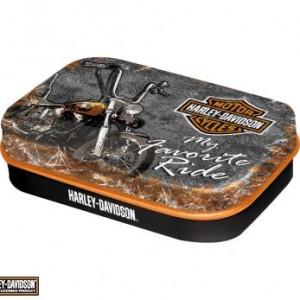Cajita de caramelos Harley-Davidson Favourite Ride (PR81281) Cajita de caramelos de menta de colección-5.50