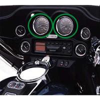 Cerquillos embellecedores (74560-96) - Cerquillos Harley-Davidson para cuentakms y tacometro FLHT 96-99 - 5 (unidad)