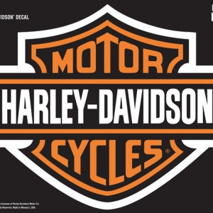 Pegatina Harley-Davidson Bars&Shield XL( GPD3028) Emblemática pegatina H-D Dimensiones 48,26cm x 38cm- 25