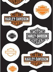 Pegatina Harley-Davidson Basics Invasions (GPDC920) Lámina de pegatinas H-D Dimensiones de la lámina4 1#Uf0224#Uf020 W x 10#Uf020 H-8