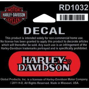 Pegatina Harley-Davidson Name (GPRD1032) pegaina reflectante Dimensiones  2 3#Uf0228#Uf020 W x 3#Uf0224#Uf020 H-5