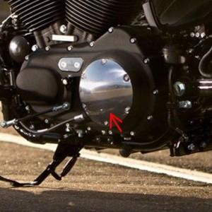 Tapa derby cover pulida (34992-04) - Tapa de embrague derby cover Harley-Davidson pulida para modelos XL - 10