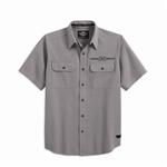Camisa Harley-Davidson Wrinkle-Resistant (99038-13VM) Camisa de algodón y polyester con propiedades que ayudan a evitar que se arrugue (S)- 96- 49