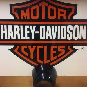 Cúpula Harley-Davidson faro delantero - Negro brillante
