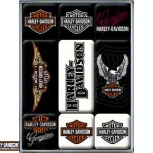 Imanes Harley-Davidson (PR83036) Cjita con 9 imanes de 2cmX2cm y 2cmX4cm- 9.50