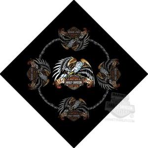 Pañuelo Harley-Davidson Tattoo Eagle ( GPBA03099) Pañuelo de poliester-19