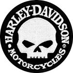Parche Harley-Davidson Hubcab (GPEM1029882) Emblema Skull Dimensiones -12