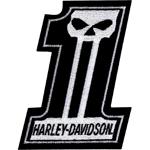 Parche Harley-Davidson Skull (GPEM718302) Parche de la colección skull para coser en cualquier prenda Dimensiones 7,62cm x 10cm- 9