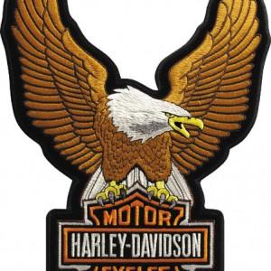 Parche Harley-Davidson Uowing Eagle (GPGPEMB328392) Parche para coser en cualquier prenda Dimensiones 6,66cm x 9,52cm - 9.50