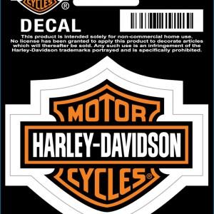 Pegatina Harley-Davidson Bar&Shield (GPD3022) Clásica pegatina H-D Dimensiones 5.7cm x 4.5cm-5