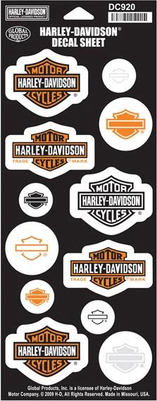 KIT PEGATINAS CASCO moto Harley Davidson logo calcomanías