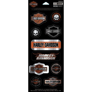 Pegatina Harley-Davidson Chrome Invasion ( DC019) Hoja de 10 pegatinas Dimensiones de la lámina 11,5cm x 25,4 cm- 8