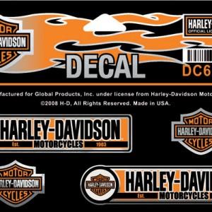 Pegatina Harley-Davidson Machinist (GPDC654641) Lámina con pegatinas Dimensiones3 1#Uf0224#Uf020 W x 3#Uf0224#Uf020 H-9