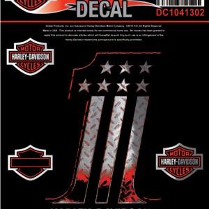 Pegatina Harley-Davidson Platinum (GPDC1041302) Pegatina de la colección 1 Dimensiones 3 1#Uf0222#Uf020 W x 5#Uf020 H-6