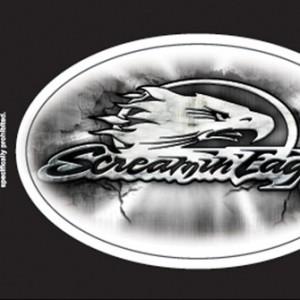 Pegatina Harley-Davidson Screamin´Eagle Tomb(GPDC978062) Pegatina acabado cromado Dimensiones 4#Uf020 W x 2 1#Uf0222#Uf020 H-6