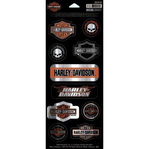 Pegatina Harley-Davidson Sheet Chrome Invasion (GPDC019) Lámina con 10 pegatinas diferentes. Dimension de la lámina 4 1#Uf0224#Uf020W x 10#Uf020 H 8