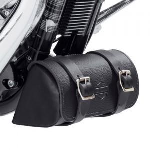 Bolsa de herramientas de cuero negro para debajo del chasis