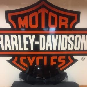 "Pantalla ahumado oscuro de 7"" Harley-Davidson Wind Splitter - Carenado Batwing"
