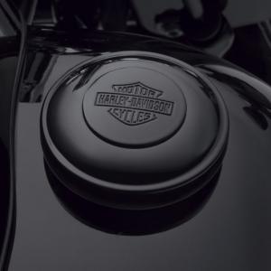 Tapón Harley-Davidson del combustible de cierre automático – Negro brillante