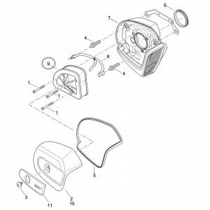 Elemento filtrante del filtro de aire del equipamiento original de Harley-Davidson (número 9 de la imagen)