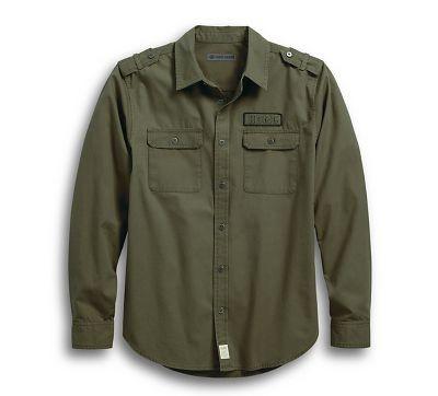 Camisa Harley-Davidson Men s Grape Leaf HDMC® Canvas c35c0a03225