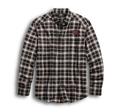 9c6c5271c3bb0 Camisa Harley-Davidson® Men s Herringbone Button-Down Plaid