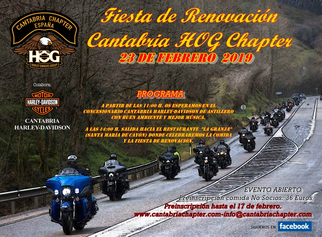 CARTEL RENOVACIÓN CHAPTER 2019