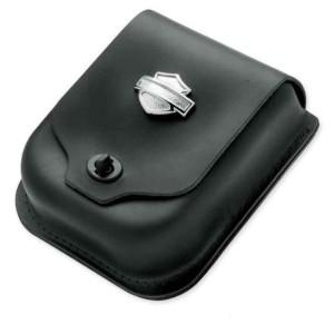 Bolsa cuero para respaldo Sissy Bar con logotipo Bar & Shield Harley-Davidson®