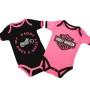 Conjunto 2 Body bebé Harley-Davidson® My Daddy Rides Pink