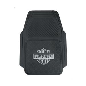 Alfombrilla universal adaptable coche Harley-Davidson® Bar & Shield - Plata
