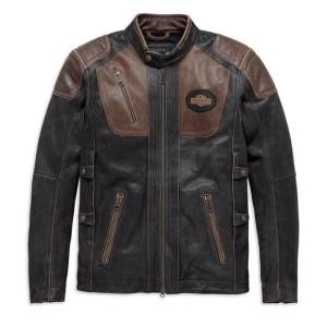 Chaqueta de cuero hombre Harley-Davidson® Men Trostel - Triple sistema ventilación - CE