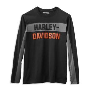 Camiseta hombre con letras en bloque Harley-Davidson® Men Colorblock