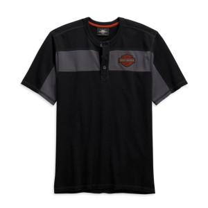 Camiseta hombre Harley-Davidson® Men Copperblock Short Sleeve Henley