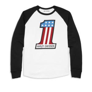 96067-22VM Camiseta Hombre Harley-Davidson® Limited Edition #1 Race Raglan Sleeve Graphic Tee - Black (1)